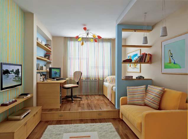 Как расположить мебель в длинной комнате